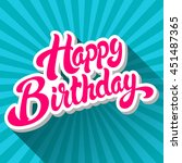 happy birthday hand drawn...   Shutterstock .eps vector #451487365