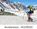 hiker in caucasus mountains | Shutterstock . vector #45149029
