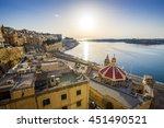 sunrise at the grand harbour of ... | Shutterstock . vector #451490521