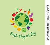 fresh veggies day vector....   Shutterstock .eps vector #451491445