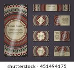 vector vintage business and... | Shutterstock .eps vector #451494175