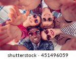 toned. picture of best friends... | Shutterstock . vector #451496059