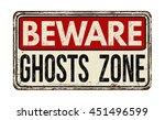 beware ghosts zone vintage... | Shutterstock .eps vector #451496599