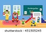 kindergarden vector... | Shutterstock .eps vector #451505245