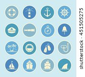 marine and nautical icon | Shutterstock .eps vector #451505275