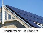 solar panels on a heritage... | Shutterstock . vector #451506775