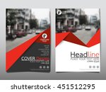 Red triangle business annual report brochure flyer design template vector, Leaflet cover presentation abstract geometric background, modern publication poster magazine, layout in A4 size | Shutterstock vector #451512295