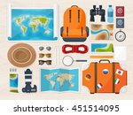 travel tourism vector... | Shutterstock .eps vector #451514095
