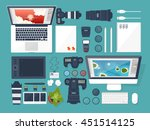 photography equipment with... | Shutterstock .eps vector #451514125
