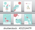 Set Of Cute Cards Poster...
