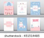 set of baby shower invitation... | Shutterstock .eps vector #451514485