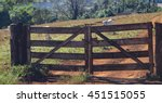 farm gate  cattle on background....   Shutterstock . vector #451515055