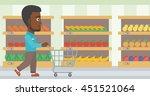 african american man pushing... | Shutterstock .eps vector #451521064