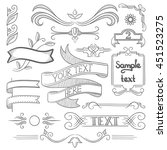 set of vintage labels  ribbons  ... | Shutterstock .eps vector #451523275