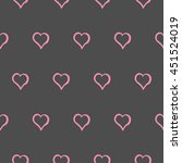 cute hearts on gray background... | Shutterstock .eps vector #451524019