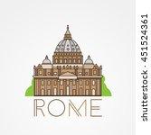 world famous st. peter basilica ... | Shutterstock .eps vector #451524361