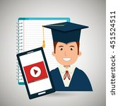 graduate student isolated icon... | Shutterstock .eps vector #451524511