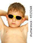 Sunbathing kid - stock photo