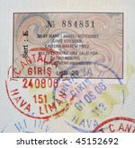 close up turkish 2006 year visa ... | Shutterstock . vector #45152692