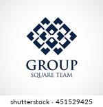 group of square team abstract... | Shutterstock .eps vector #451529425
