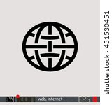 internet  web icon or... | Shutterstock .eps vector #451530451