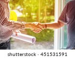 the evening sun  with engineer... | Shutterstock . vector #451531591