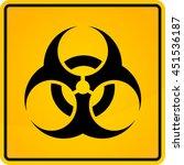 biohazard sign  biohazard sign...   Shutterstock .eps vector #451536187