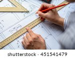 mechanical engineer at work.... | Shutterstock . vector #451541479