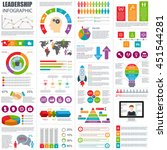 set of infographic vector... | Shutterstock .eps vector #451544281