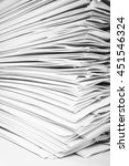 close up stack of papers | Shutterstock . vector #451546324