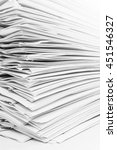 close up stack of papers | Shutterstock . vector #451546327