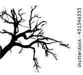 dead tree silhouette | Shutterstock .eps vector #451546555