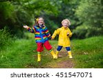 little boy and girl play in... | Shutterstock . vector #451547071