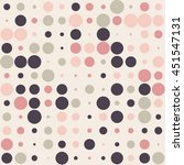 seamless polka dot pattern with ... | Shutterstock .eps vector #451547131