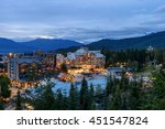 Whistler Village in Vancouver, British Columbia, Canada.