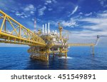 offshore industry oil and gas... | Shutterstock . vector #451549891