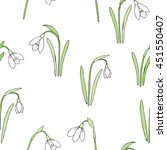 seamless pattern with snowdrops.... | Shutterstock . vector #451550407