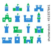 chateau icon set | Shutterstock .eps vector #451557841