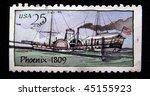 usa   circa 2009  a stamp... | Shutterstock . vector #45155923