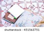 beautiful notebooks on the... | Shutterstock . vector #451563751
