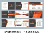 set of modern business card... | Shutterstock .eps vector #451565521