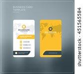 business card print template... | Shutterstock .eps vector #451565584