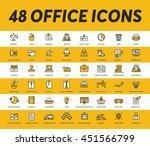 office icons | Shutterstock .eps vector #451566799