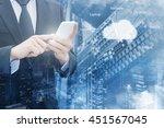 double exposure of professional ... | Shutterstock . vector #451567045