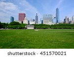 chicago skyline in the morning. ... | Shutterstock . vector #451570021