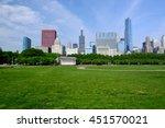 chicago skyline in the morning. ... | Shutterstock . vector #451570021
