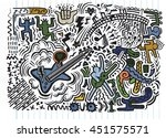 abstract music background ...   Shutterstock .eps vector #451575571