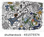 abstract music background ...   Shutterstock .eps vector #451575574