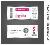 3d Movie Ticket Cinema Concept...