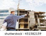 chief construction with... | Shutterstock . vector #451582159